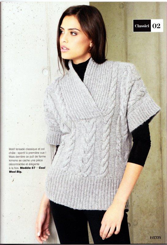 pull kimono au tricot blog de le tricot de marcelle. Black Bedroom Furniture Sets. Home Design Ideas
